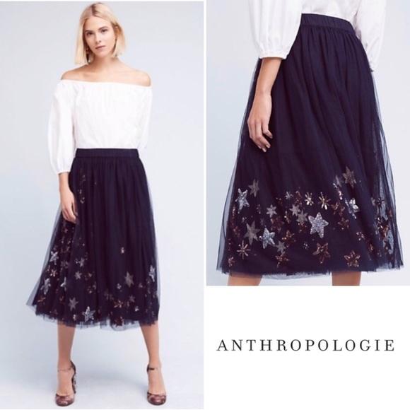 111137163 Anthropologie Dresses & Skirts - Anthropologie | Moon & Stars Tulle Skirt